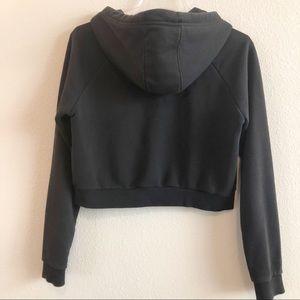 adidas Tops - Adidas Logo Cropped Black Hoodie, Size Small
